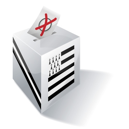 Ballot box Brittany Vector