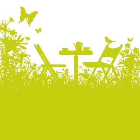 Gartenstühle im Garten Standard-Bild - 20917573