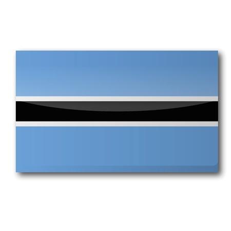 landlocked: Flag Botswana