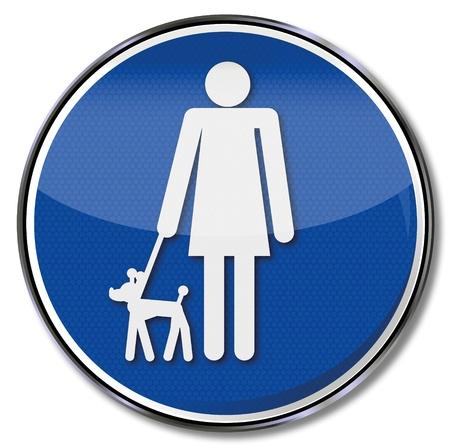 mistress: Iscriviti padrona con piccole doggy Vettoriali