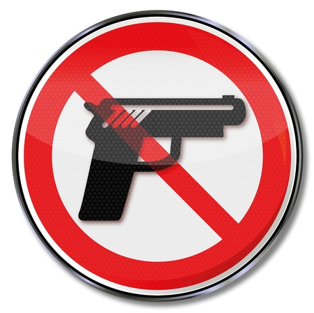Sign no firearms Stock Vector - 20917592