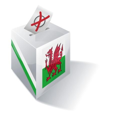 cymru: Ballot box Wales Illustration