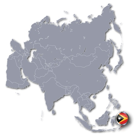 Asia Map with East Timor photo