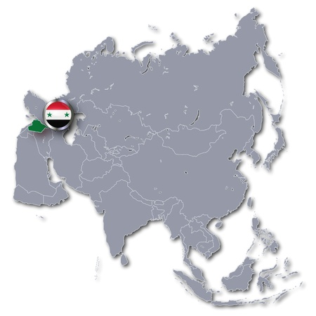 Asia Map with Syria photo