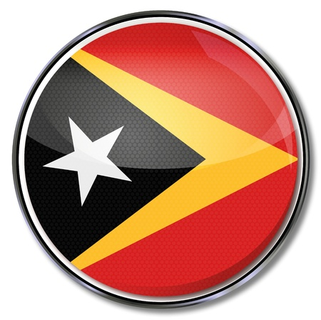 Button East Timor Vector