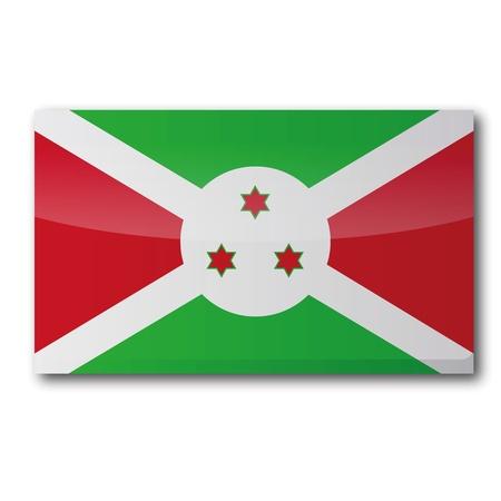 burundi: Flag Burundi