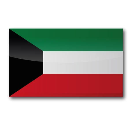 kuwait: Flag Kuwait  Illustration