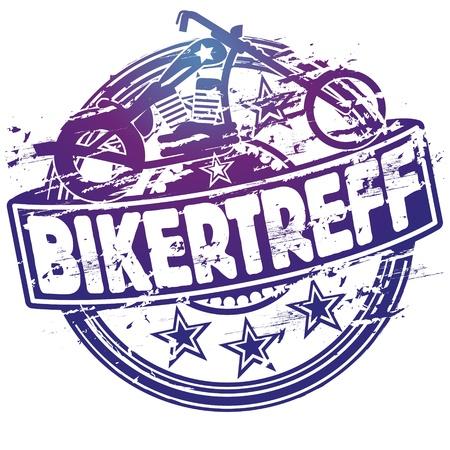 siegel: Rubber stamp biker meating