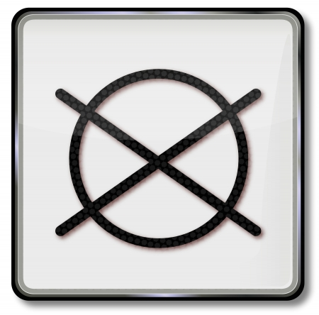 Do Not Dry Textile Care Symbol In The Tumble Dryer Royalty Free