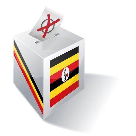 landlocked country: Ballot box Uganda Illustration