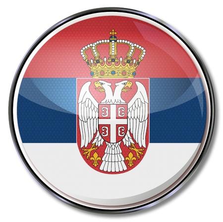 serbia flag: Button Serbia