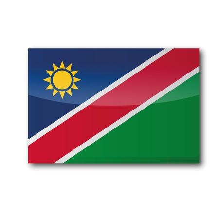 namibia: Flag Namibia Illustration