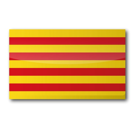 Flag Catalonia Illustration
