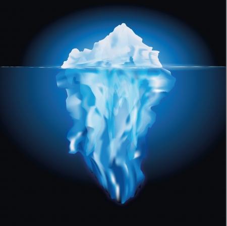 nakładki: Góra lodowa w morzu