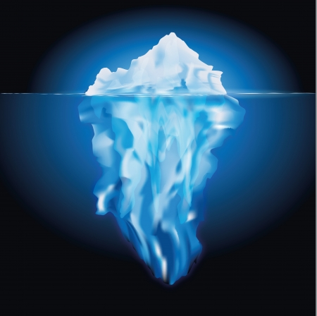 Iceberg in the sea Vector