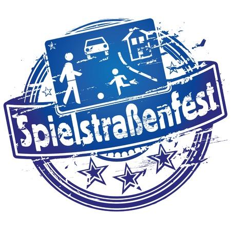 Rubber stamp street festival Vector