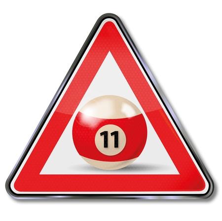 eleven: Sign billiard ball number 11