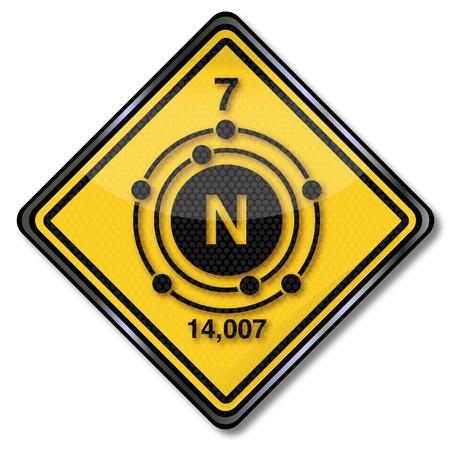 enlaces quimicos: Reg�strate qu�mica de nitr�geno car�cter Vectores