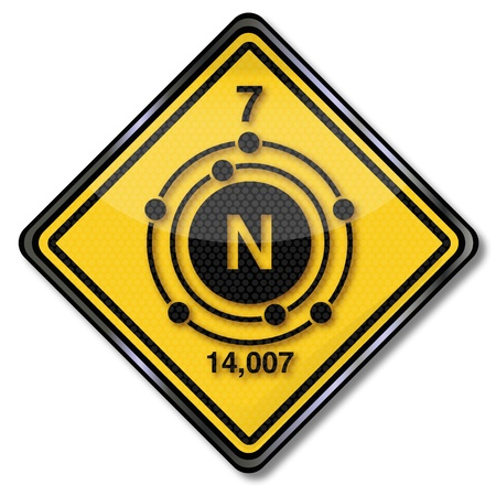 periodic table: Sign chemistry character nitrogen