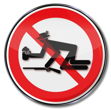 forbade: Prohibition sign for drunks and protecting the citizens  festival celebration