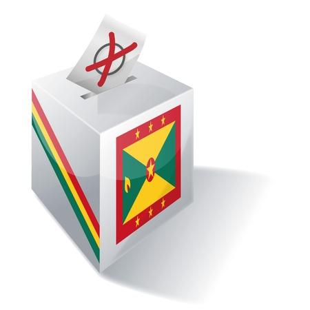 absentee: Ballot box Grenada