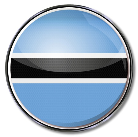 Button Botswana Vector