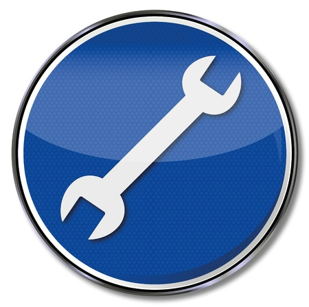 Sign wrench service and repair Vector