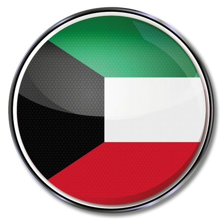kuwait: Button Kuwait Illustration