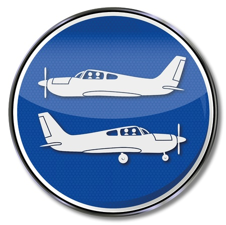 takeoff: Sign aircrafts and planes, takeoff and landing