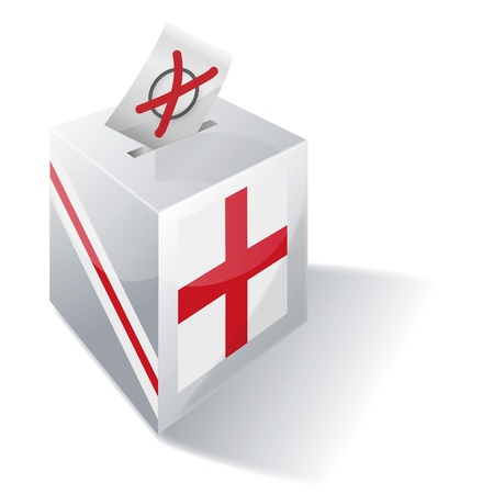 voters: Ballot box England Illustration