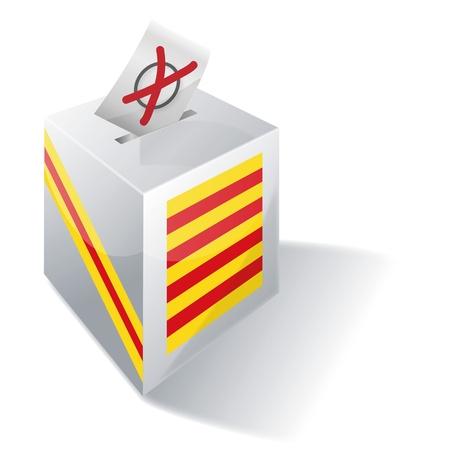 Urna Catalogna Vettoriali