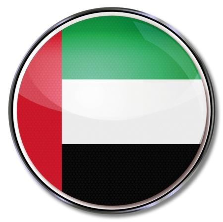 arab flags: Button United Arab Emirates Illustration