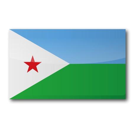 djibouti: Flag Djibouti Illustration