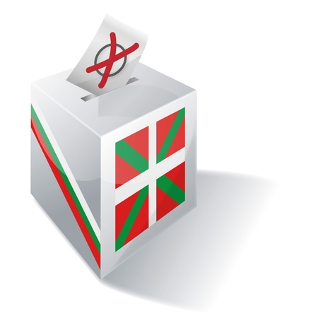 Ballot box Basque Country Vector