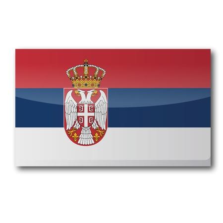 landlocked country: Bandera de Serbia