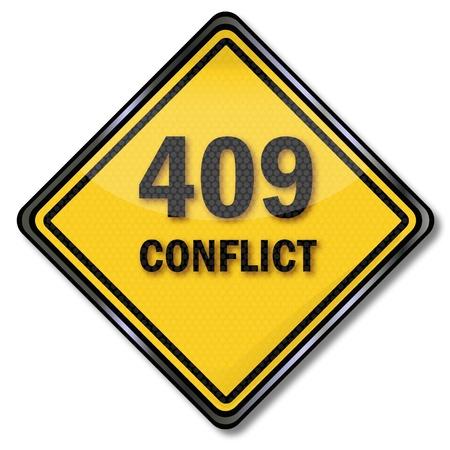 konflikt: Konflikt znak komputer 409