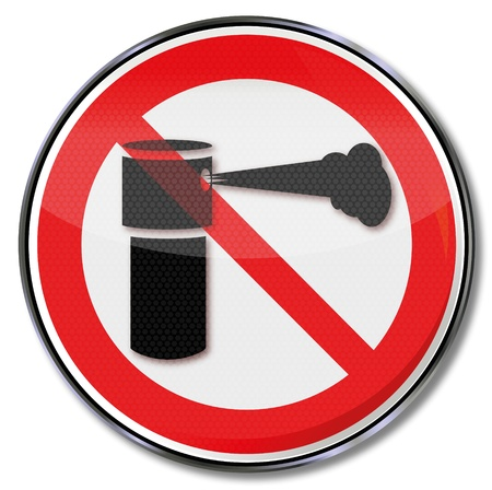 Prohibition sign for pepper spray Stock Vector - 21919298