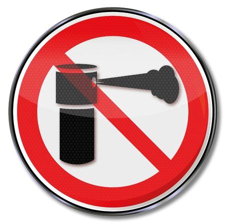 dictature: Signe de prohibition de spray au poivre