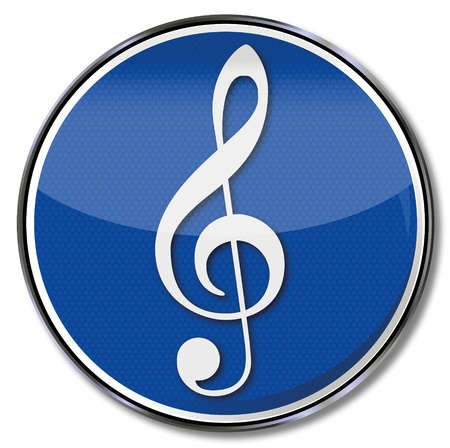 music theory: Sign clef and music note Illustration