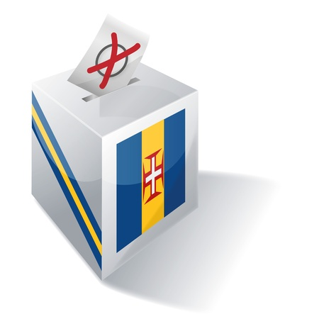 Ballot box Madeira Vector