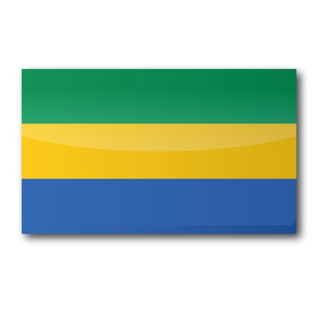 gabon: Flag Gabon Illustration
