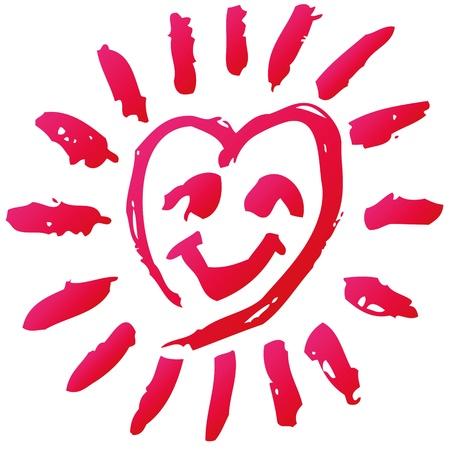 Skribble with a heart Stock Vector - 22119739