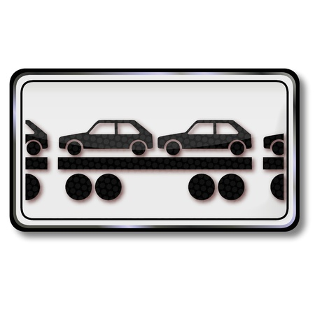 toll: Sign car train wagons and cars