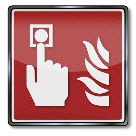 extinguishers: Fire safety sign fire detector and fire arlarm