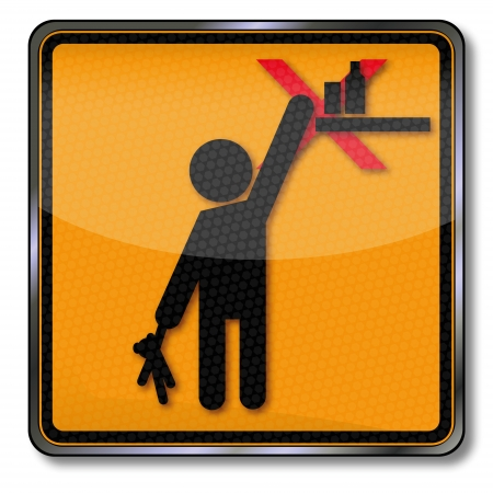 household accident: Danger sign warning please keep out of reach from children Illustration