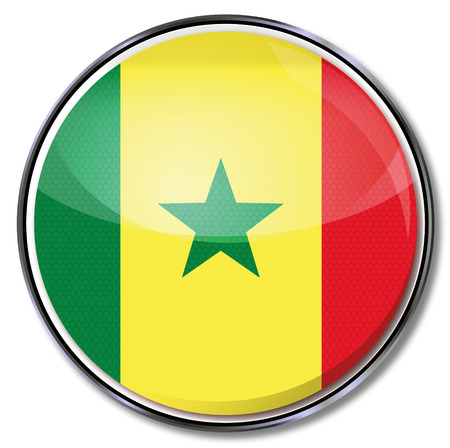 Button Senegal Stock Vector - 22370426