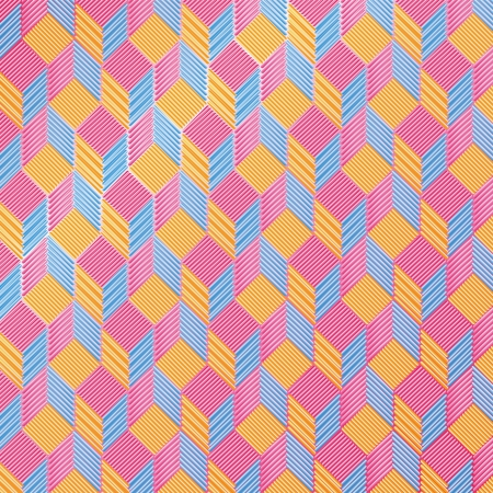 Cubes on fabric pattern Stock Vector - 22370450