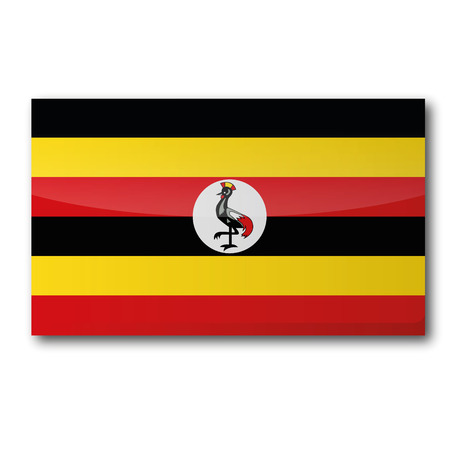 landlocked: Flag Uganda