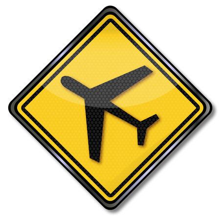 runways: Sign aircraft and airport