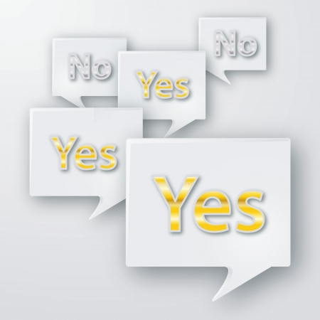 Yes and no bubbles Vector
